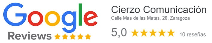 Google Reviews Cierzo Comunicación
